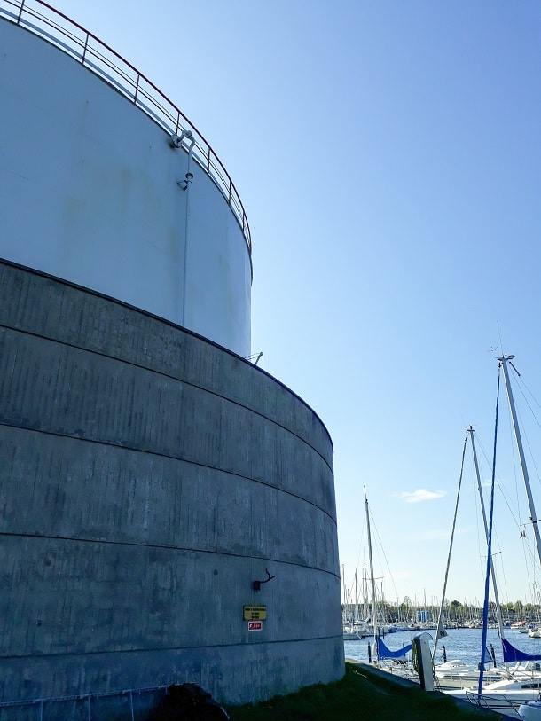 Silo by Svanemølle harbour