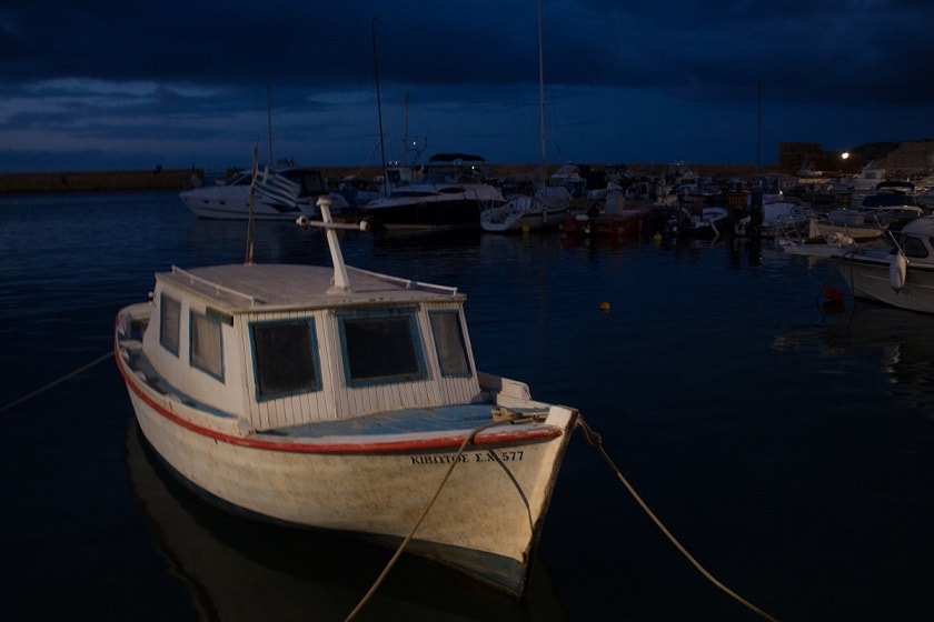 Small fishing boat in Chania