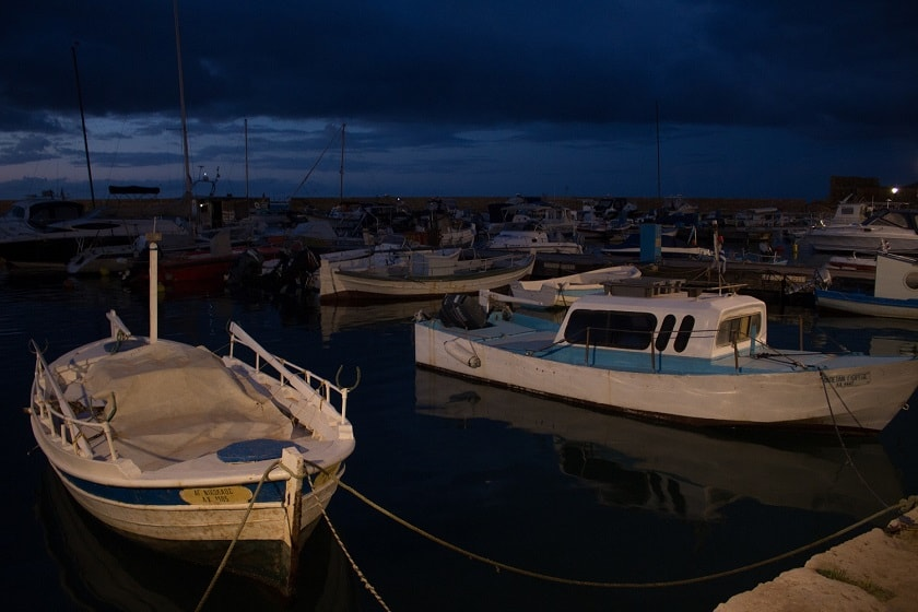 Small fishing boats in Chania