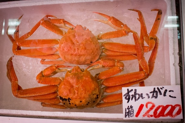 Red king crab at Omisho Market