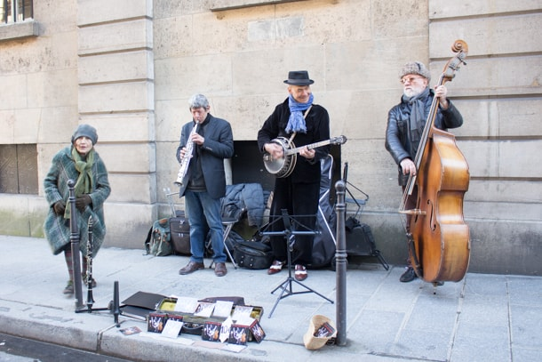 Jazz-band in Marais
