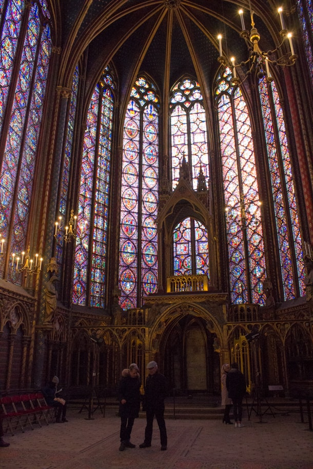 The stained glass windows of the Upper Level of Sainte-Capelle