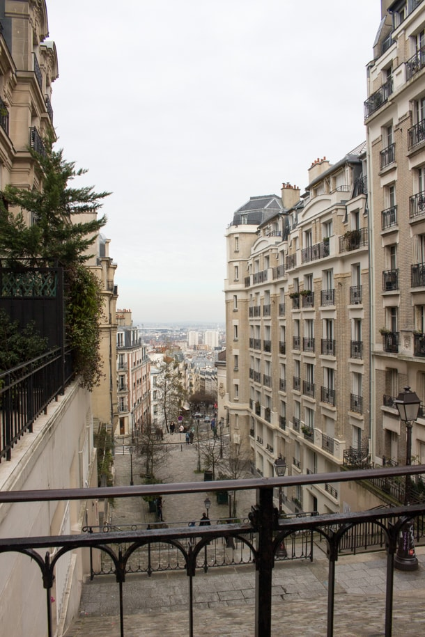 View from La Butte Montmartre