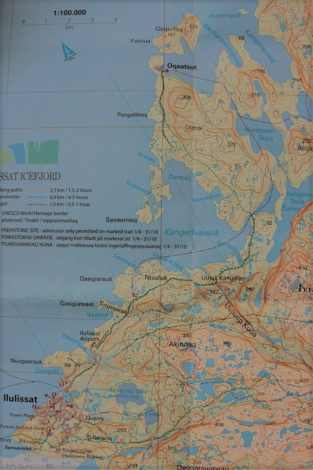 The Green line: Oqaatsut - Ilulissat Walking Route