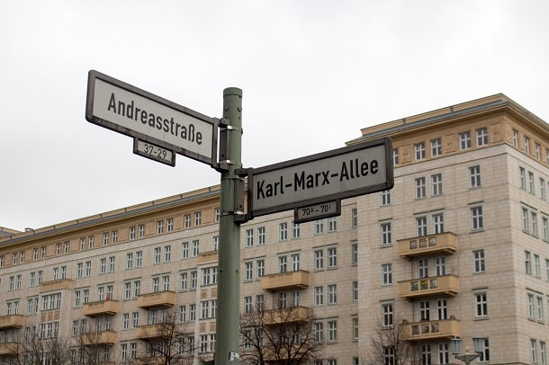 Karl Marx Allee Street Sign