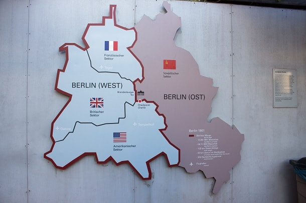 Map of the Berlin Sectors
