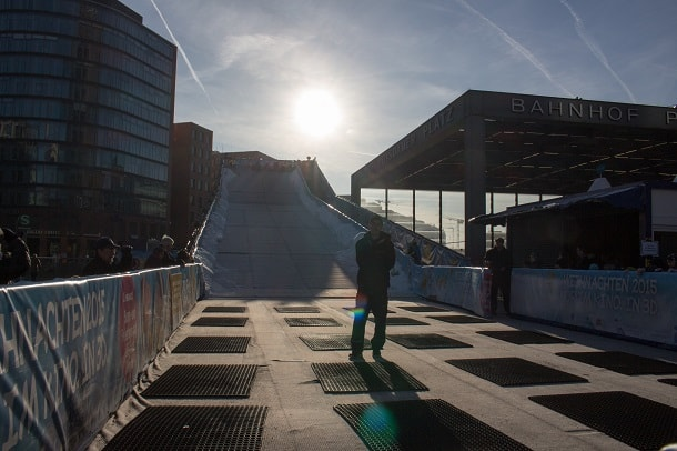 Ski slope at Potsdamer Platz