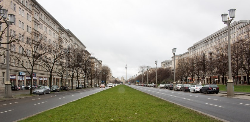 View down Karl Marx Allee
