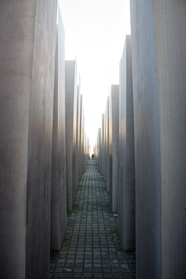 Walking through the Memorial to the Murdered Jews of Europe