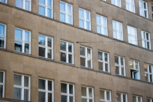 Windows near Checkpoint Charlie